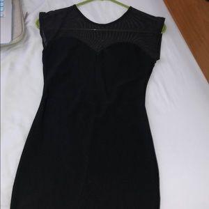 Mesh low back mini dress